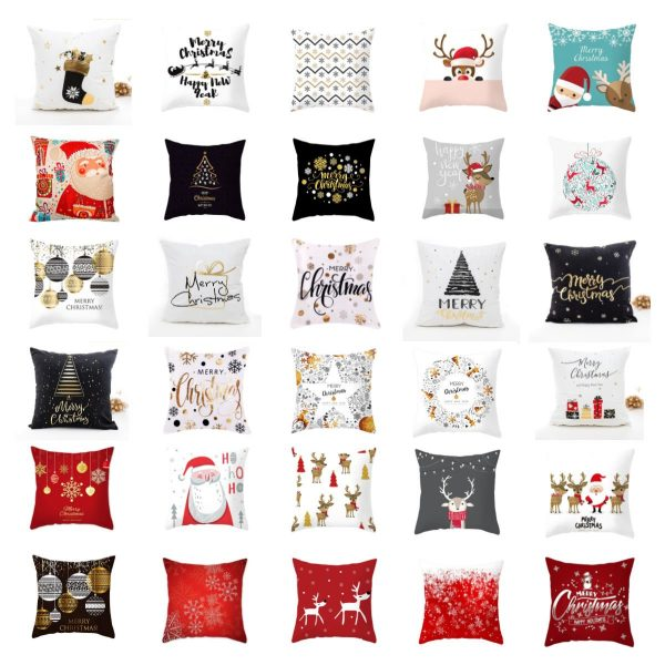 Christmas Pillow Covers Collage