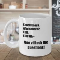 Dwight Schrute Mug – The Office KGB Knock Knock Joke - Front Beauty