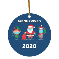 2020 Christmas OrnamentWe Survuved 2020 Elf Santa Reindeer