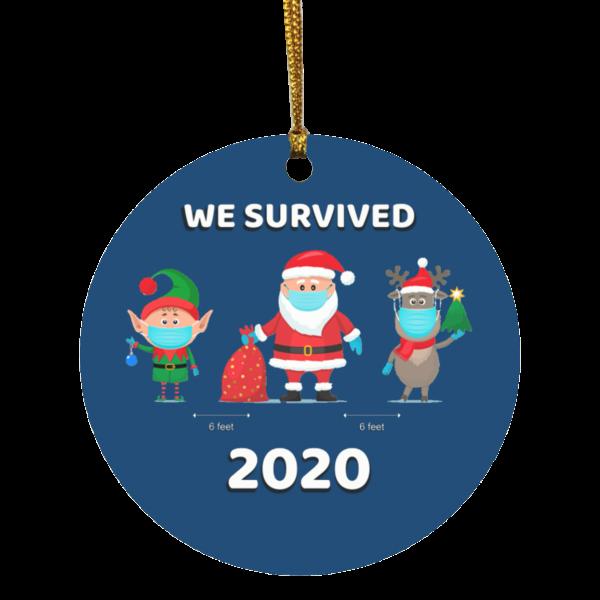 2020 Christmas OrnamentWe Survuved 2020 Elf Santa Reindeer