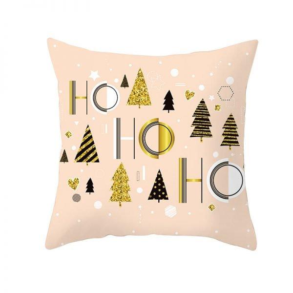 Trees Ho Ho Ho Pillow Cover