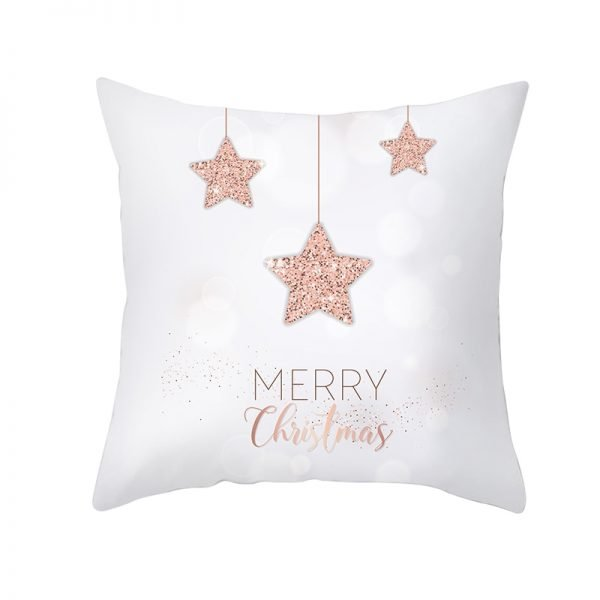 Stars Merry Christmas Pillow Cover