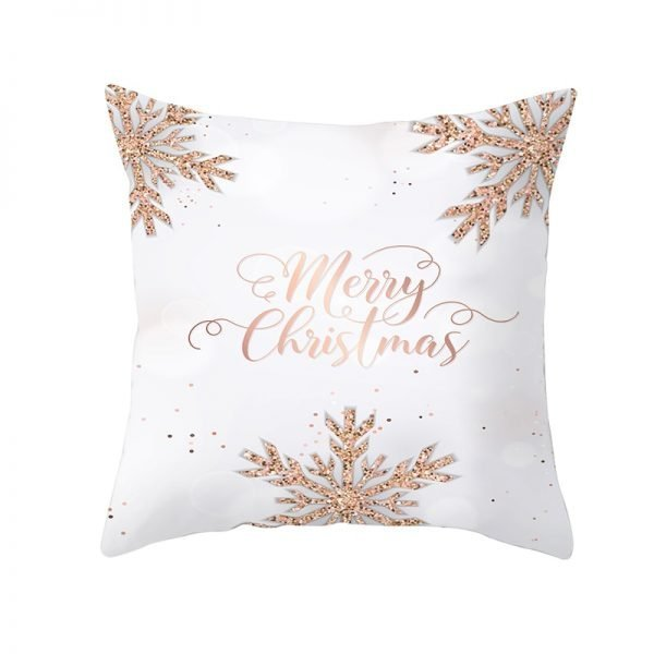 Snowflakes Merry Christmas Pillow Cover