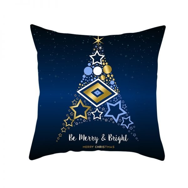 Be Merry & Bright Star Tree Pillow Cover