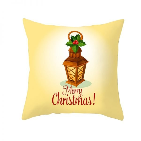 Merry Christmas Lantern Pillow Cover