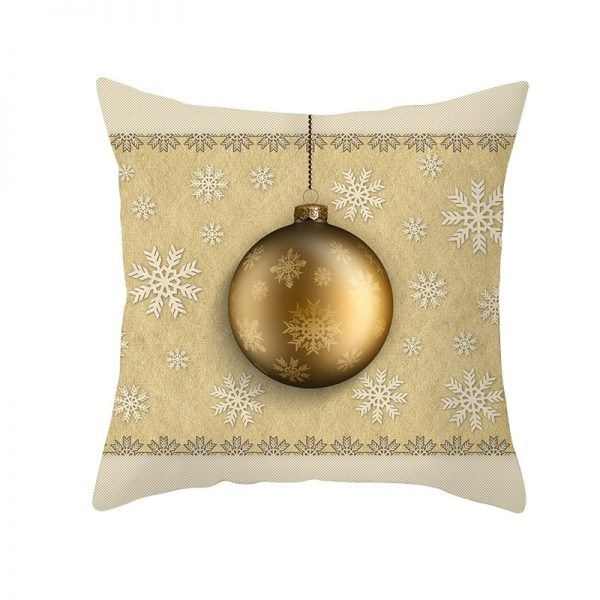 Quaint Ornament & Snoflakes Pillow Cover