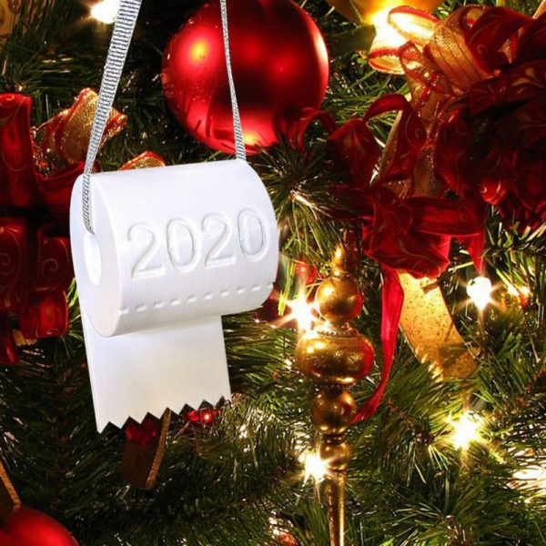 2020 Toilet Paper Ornament - Red Tree