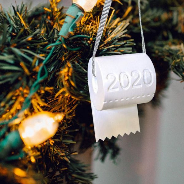2020 Toilet Paper Ornament - White Tree