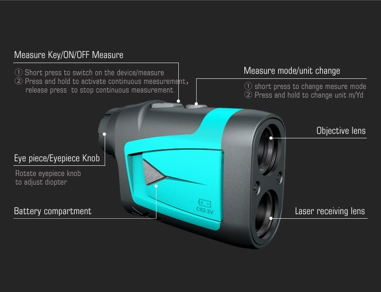 Mileseey PF210 600M Yd Golf Laser Rangefinder Mini Golf Rangefinder Sport Laser Measure Distance Meter Golf Rangefinder for Hunt