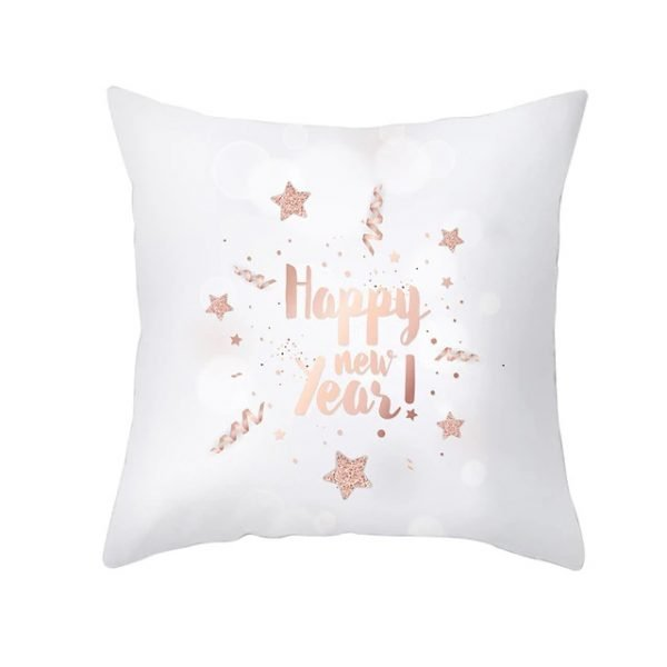 Happy New Year Pillow Cover
