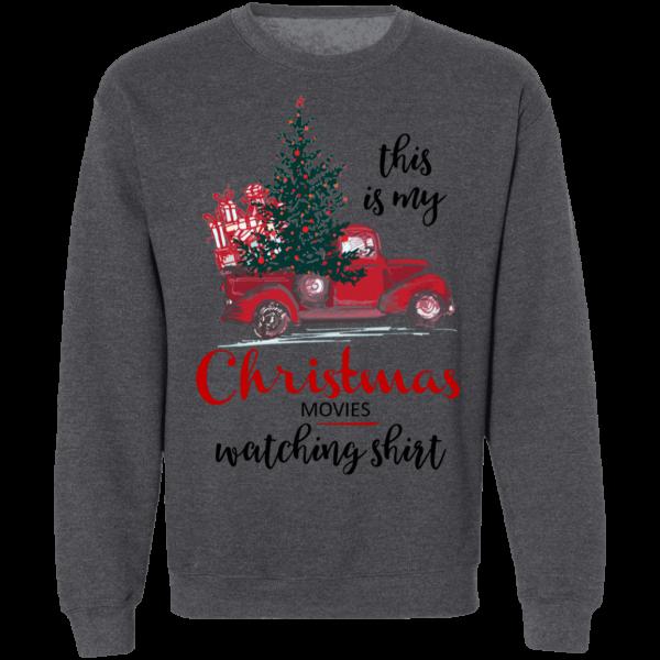 This Is My Christmas Movies Watching Shirt - Crewneck Pullover Sweatshirt - Ash