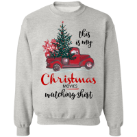 This Is My Christmas Movies Watching Shirt - Crewneck Pullover Sweatshirt - Gray