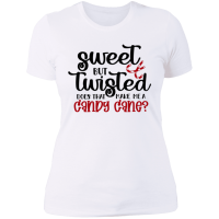 Sweet But Twisted Ladies BF Shirt - White